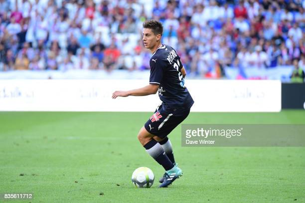 Theo Pellenard of Bordeaux during the Ligue 1 match between Olympique Lyonnais and FC Girondins de Bordeaux at Groupama Stadium on August 19 2017 in...