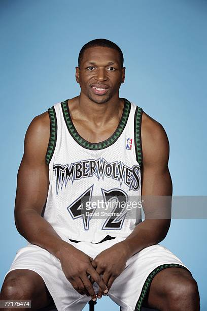 Theo Ratliff of the Minnesota Timberwolves poses for a portrait during NBA Media Day at the Target Center on September 28 2007 in Minneapolis...