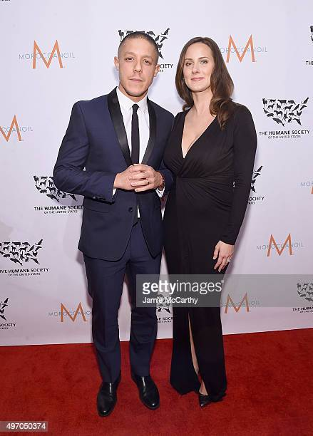 Theo Rossi and Meghan McDermott attend the 2015 To The Rescue New York Gala at Cipriani 42nd Street on November 13 2015 in New York City