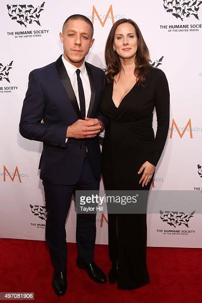 Theo Rossi and Meghan McDermott attend The Humane Society Gala at Cipriani 42nd Street on November 13 2015 in New York City