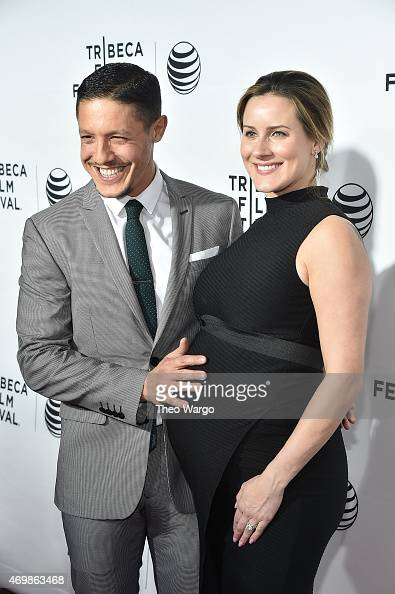 Theo Rossi and Meghan McDermott attend the world premiere of 'Live From New York' during the 2015 Tribeca Film Festival at The Beacon Theatre on...