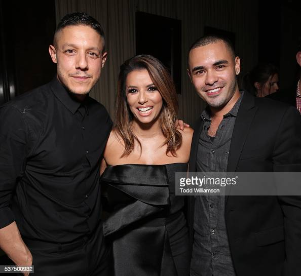 Theo Rossi Eva Longoria and Gabriel Chavarria attend the after party for the 2016 LA Film Festival Opening Night Premiere Of 'Lowriders' at Beso on...