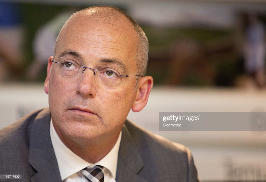 Theo Spierings, chief executive officer of Fonterra Cooperative Group Ltd., attends a news conference in Auckland, New Zealand, on Wednesday, Aug. 7, 2013. Fonterra said all dairy product affected by a potentially contaminated ingredient has been located and removed from the market. Photographer: Brendon O'Hagan/Bloomberg via Getty Images
