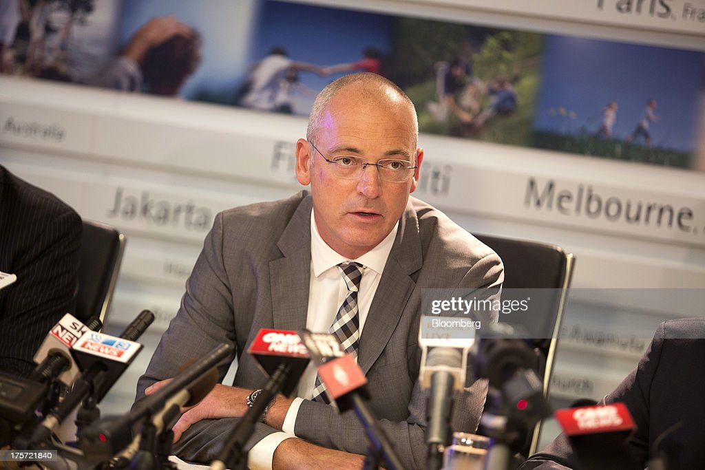 Theo Spierings, chief executive officer of Fonterra Cooperative Group Ltd., speaks during a news conference in Auckland, New Zealand, on Wednesday, Aug. 7, 2013. Fonterra said all dairy product affected by a potentially contaminated ingredient has been located and removed from the market. Photographer: Brendon O'Hagan/Bloomberg via Getty Images