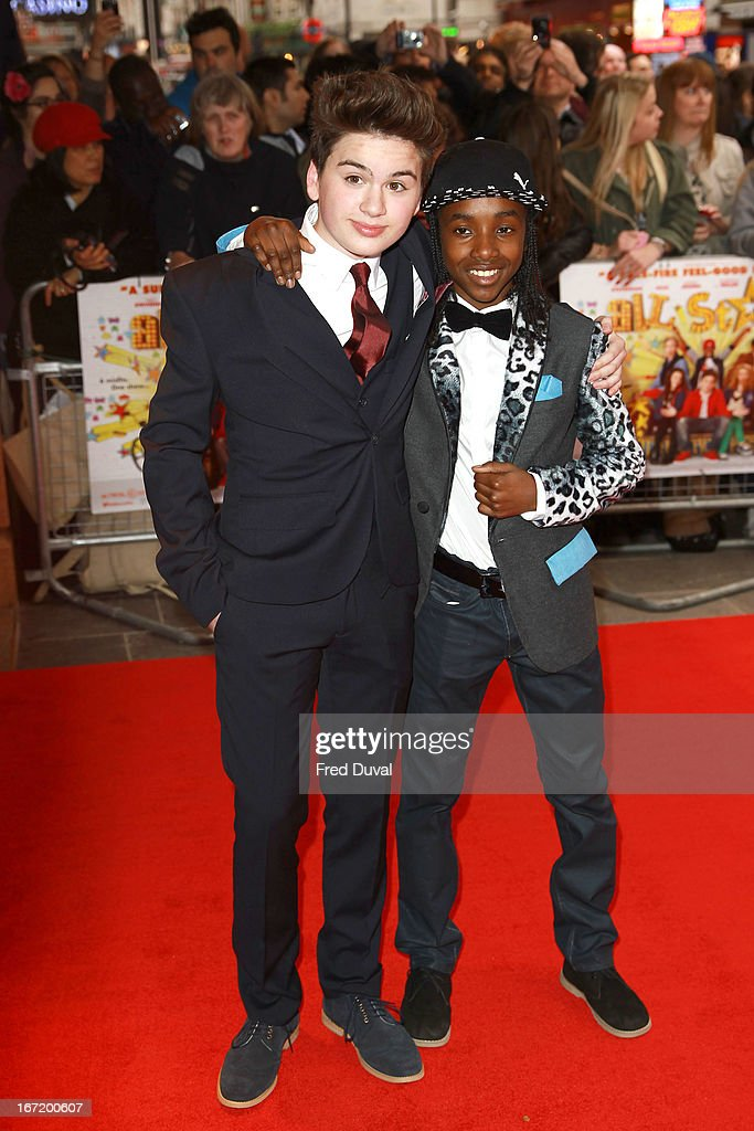 <a gi-track='captionPersonalityLinkClicked' href=/galleries/search?phrase=Theo+Stevenson&family=editorial&specificpeople=7761174 ng-click='$event.stopPropagation()'>Theo Stevenson</a> and Akai attend the UK Premiere of 'All Stars' at Vue West End on April 22, 2013 in London, England.