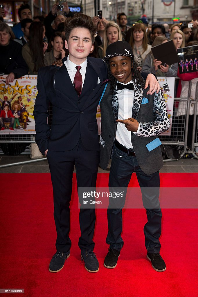 <a gi-track='captionPersonalityLinkClicked' href=/galleries/search?phrase=Theo+Stevenson&family=editorial&specificpeople=7761174 ng-click='$event.stopPropagation()'>Theo Stevenson</a> and Akai Osei attends the UK Premiere of 'All Stars' at the Vue West End cinema on April 22, 2013 in London, England.