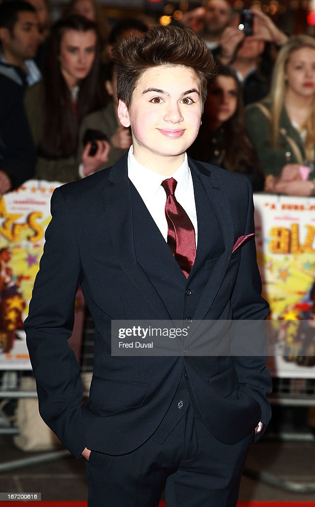 Theo Stevenson attends the UK Premiere of 'All Stars' at Vue West End on April 22, 2013 in London, England.