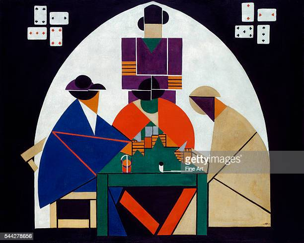 Theo van Doesburg Card Players 191617 oil and tempera on canvas 1262 x 1562 cm Gemeentemuseum Den Haag The Hague Netherlands