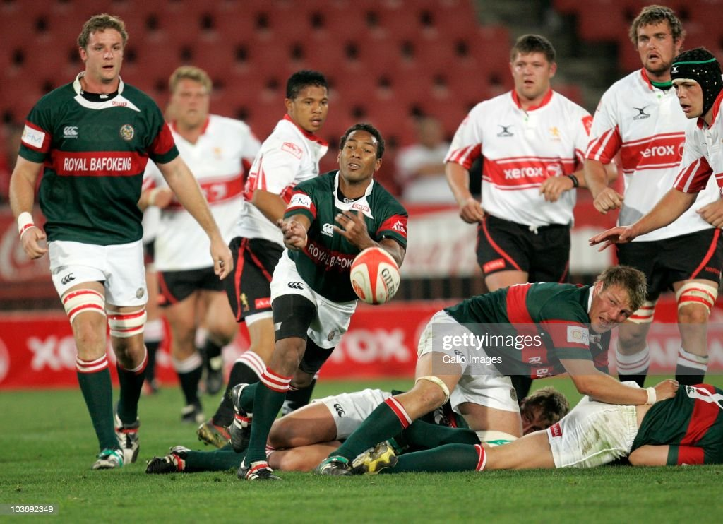 Theo van Wyk of the Leopards in action during the Absa Currie Cup match between the Xerox Lions and Platinum Leopards at Coca Cola Stadium on August 27, 2010 in Johannesburg, South Africa.