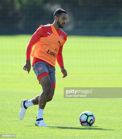Theo Walcott of Arsenal during a training session at London Colney on September 23 2016 in St Albans England