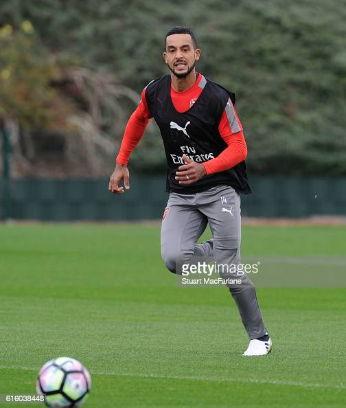 Theo Walcott of Arsenal during a training session at London Colney on October 21 2016 in St Albans England