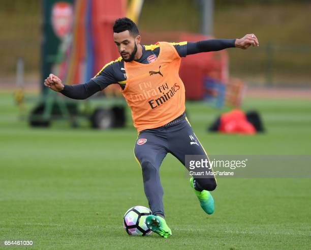 Theo Walcott of Arsenal during a training session at London Colney on March 17 2017 in St Albans England