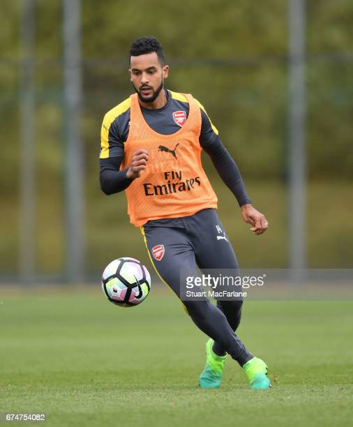 Theo Walcott of Arsenal during a training session at London Colney on April 29 2017 in St Albans England