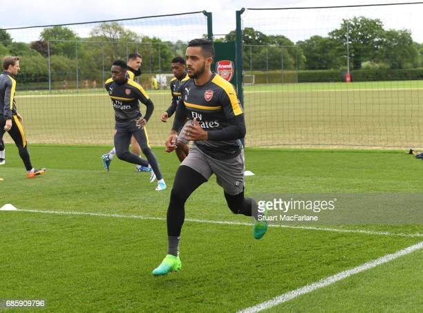 Theo Walcott of Arsenal during a training session at London Colney on May 20 2017 in St Albans England