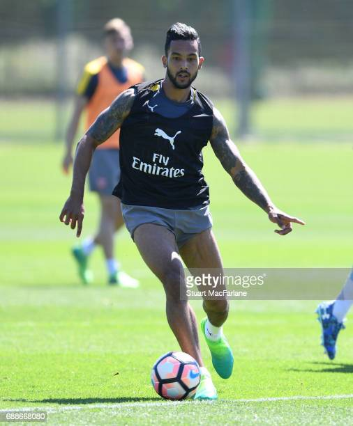 Theo Walcott of Arsenal during a training session at London Colney on May 26 2017 in St Albans England