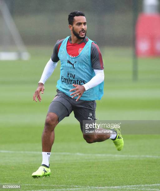 Theo Walcott of Arsenal during a training session at London Colney on July 26 2017 in St Albans England