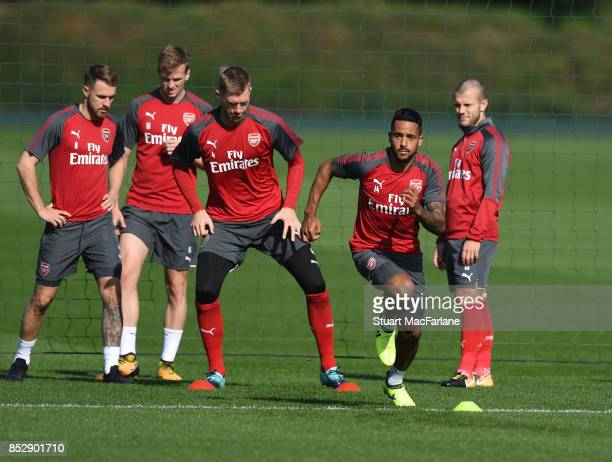 Theo Walcott of Arsenal during a training session at London Colney on September 24 2017 in St Albans England