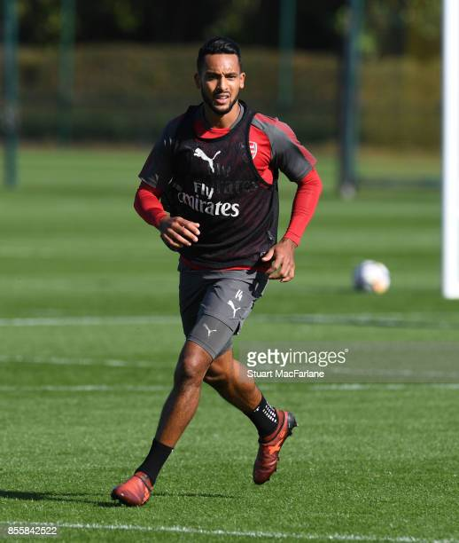 Theo Walcott of Arsenal during a training session at London Colney on September 30 2017 in St Albans England