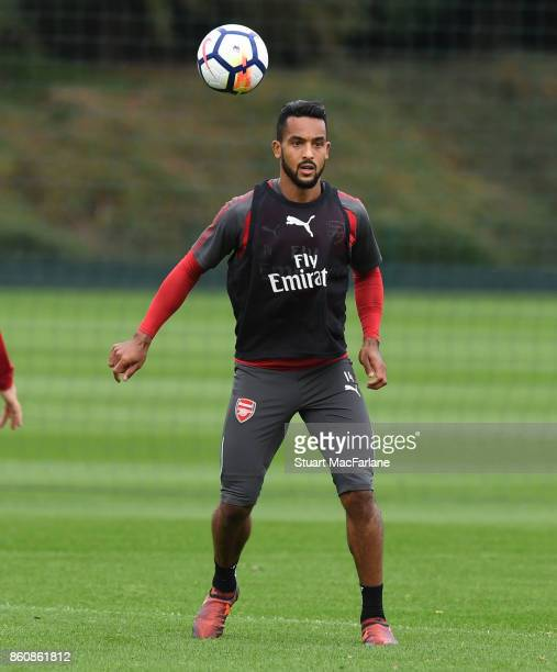 Theo Walcott of Arsenal during a training session at London Colney on October 13 2017 in St Albans England
