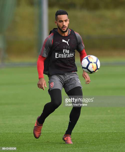 Theo Walcott of Arsenal during a training session at London Colney on October 21 2017 in St Albans England