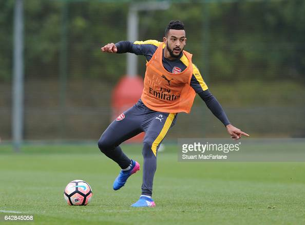 Theo Walcott of Arsenal during a training session on February 19 2017 in St Albans England