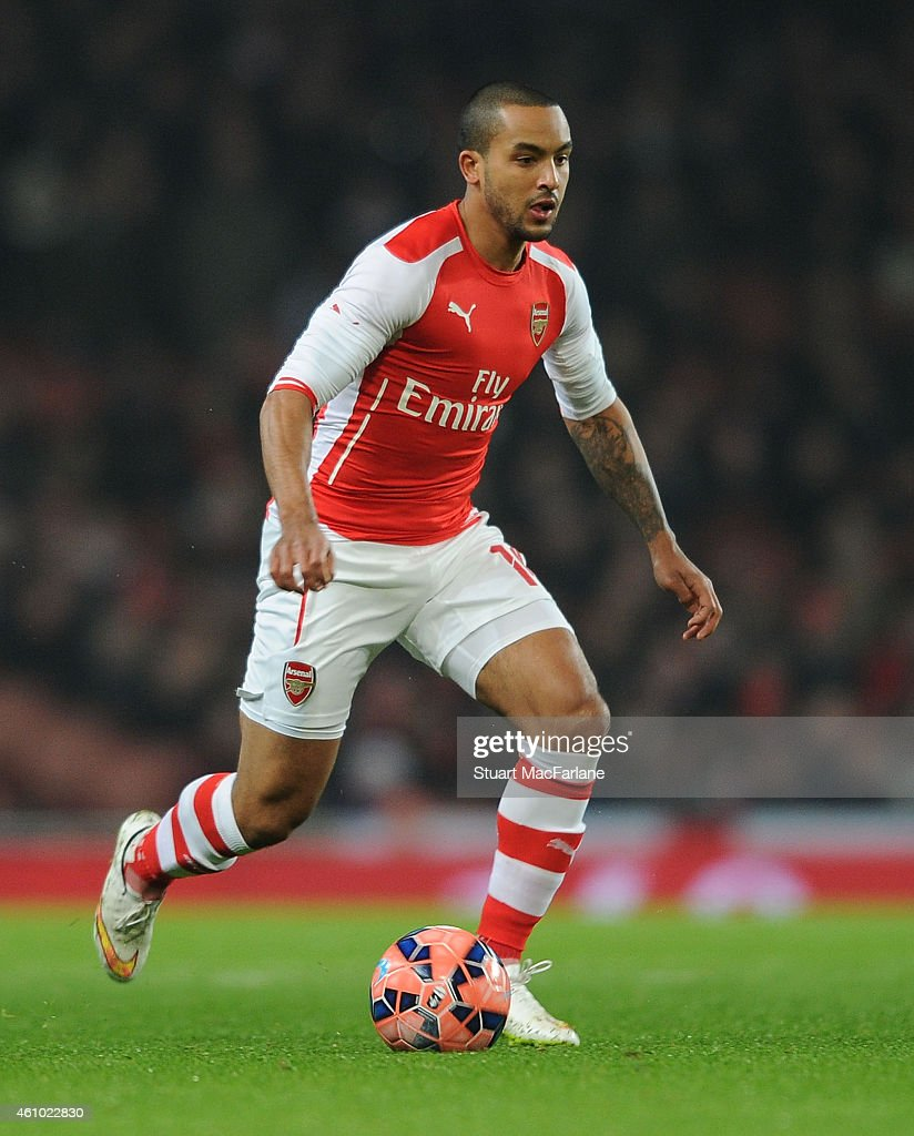 Theo Walcott of Arsenal during the FA Cup Third Round match between Arsenal and Hull City at Emirates Stadium on January 4, 2015 in London, England.