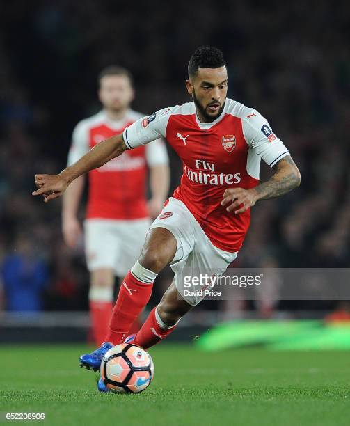 Theo Walcott of Arsenal during the match between Arsenal and Lincoln City at Emirates Stadium on March 11 2017 in London England