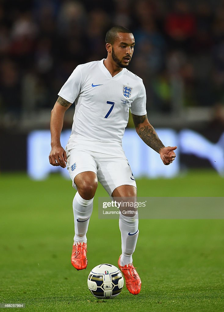 Theo Walcott of England in action during the International Friendly match between Italy and England at Juventus Stadium on March 31 2015 in Turin...