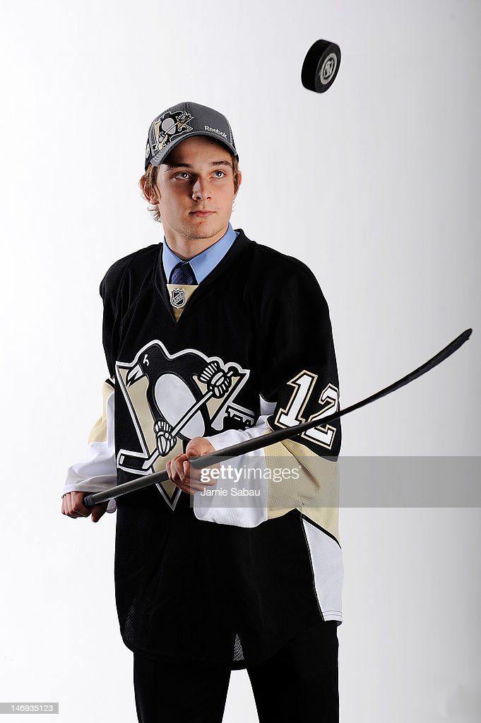 Theodor Blueger, drafted 52nd overall by the Pittsburgh Penguins, poses for a portrait during Day Two of the 2012 NHL Entry Draft at Consol Energy Center on June 23, 2012 in Pittsburgh, Pennsylvania.