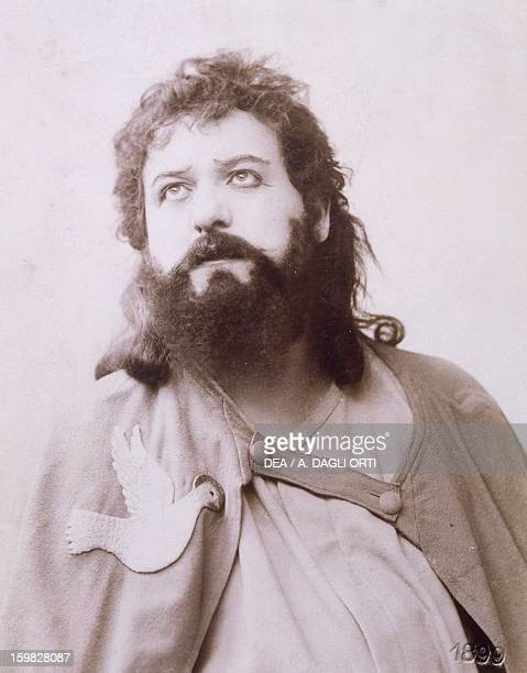 Theodor Reichmann German bariton as Amfortas in Parsifal by Richard Wagner Production at Bayreuth 1882