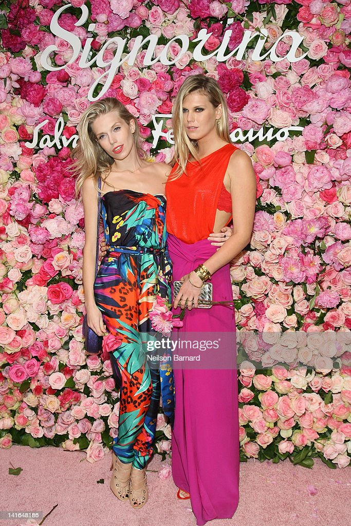 Theodora Richards (L) and Alexandra Richards attend the after party for the launch of Salvatore Ferragamo's Signorina fragrance at Palazzo Chupi on March 20, 2012 in New York City.