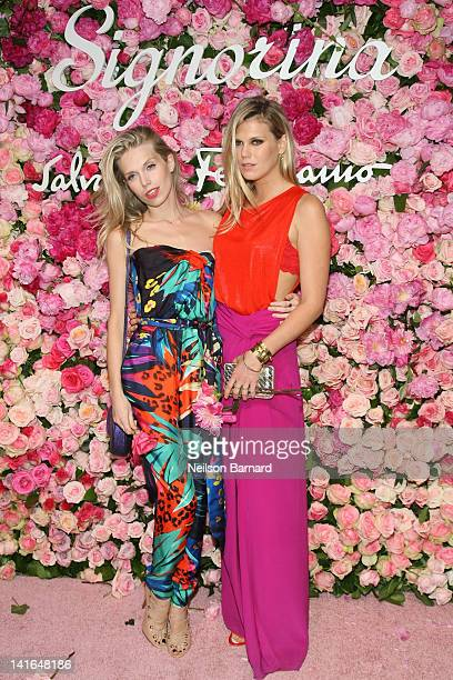 Theodora Richards and Alexandra Richards attend the after party for the launch of Salvatore Ferragamo's Signorina fragrance at Palazzo Chupi on March...
