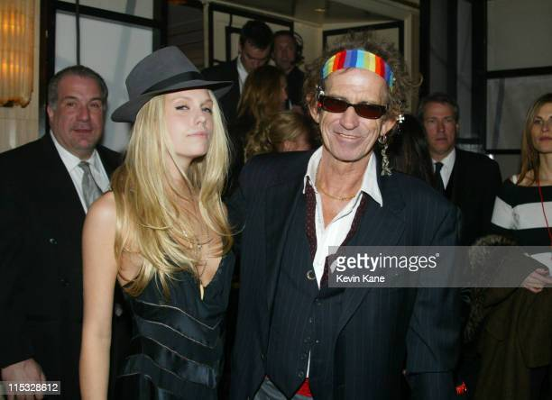 Theodora Richards and Keith Richards during The 19th Annual Rock and Roll Hall of Fame Induction Ceremony Backstage and Audience at Waldorf Astoria...