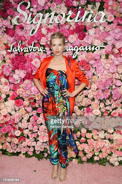 Theodora Richards attends the after party for the launch of Salvatore Ferragamo's Signorina fragrance at Palazzo Chupi on March 20 2012 in New York...