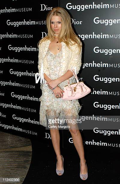 Theodora Richards during Dior Sponsors the Solomon R Guggenheim Museum's Young Collectors Council Artist's Ball Honoring Matthew Ritchie at...