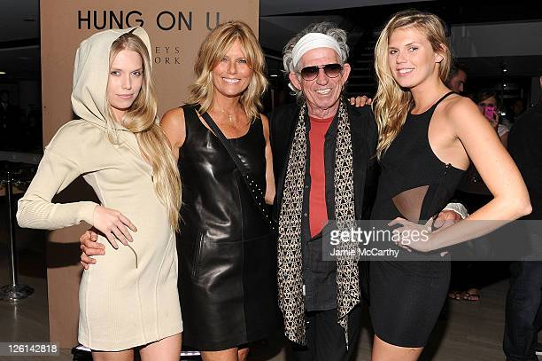 Theodora Richards Patti Hansen Keith Richards and Alexandra Richards attend the celebration of the launch of Hung on U with Patti Hansen hosted by...