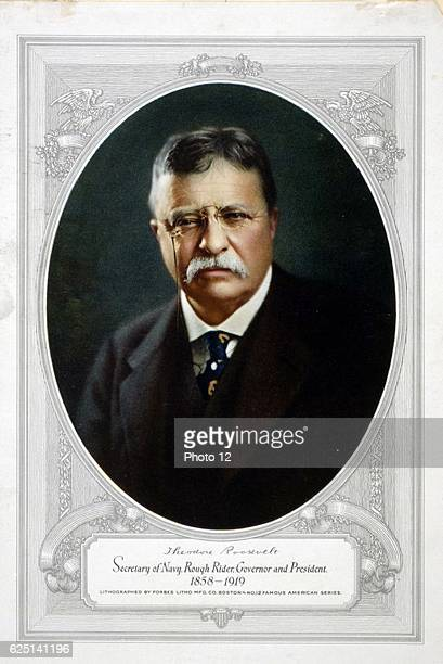 Theodore D Roosevelt 26th President of the United States of America the youngest man to be elected as US President Photograph published at the time...