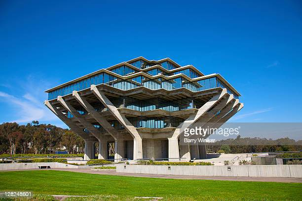 Theodore Geisel (Dr. Seuss) Library at University of California at San Diego (shaped like hands), La Jolla, California (near San Diego)