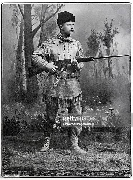 Theodore Roosevelt 26th President of the USA said to be in dress of lst Volunteer Cavalry a force he raised in 1898 of which he was second in command...