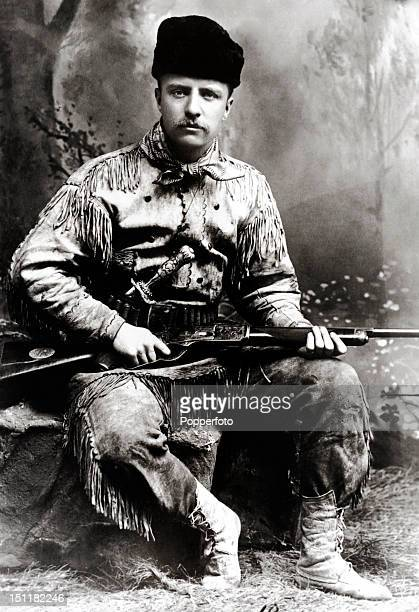 Theodore Roosevelt circa 1885 President of the United States from 19011909 he is pictured the year after both his wife and mother died on the same...