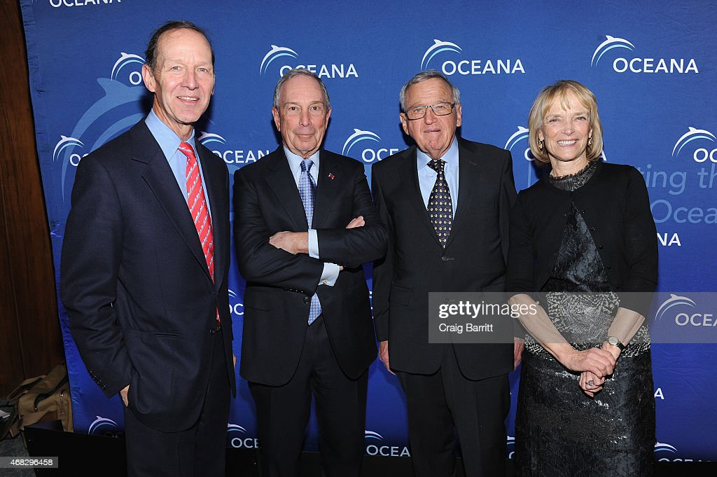 Theodore Roosevelt IV Michael Bloomberg Hansjorg Wyss and Constance Rogers Roosevelt attends Oceana's 2015 New York City benefit at Four Seasons...