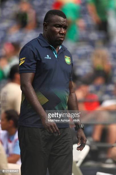 Theodore Whitmore the head coach / manager of Jamaica during the 2017 CONCACAF Gold Cup Group C match between Curacao and Jamaica at Qualcomm Stadium...