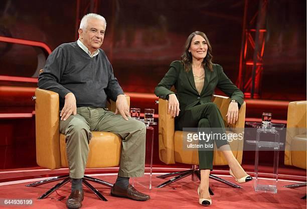 Theodoros Paraskevopoulos mit Anja Kohl in der ARDTalkshow GÜNTHER JAUCH am in BerlinThema der Sendung Showdown im Schuldenstreit Ð Was wird aus...