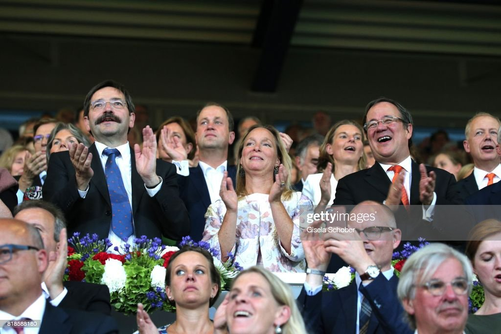Theodorus Jozef Franciscus Marie 'Theo' Bovens, Governor Limburg, Princess Margarita de Bourbon de Parme, cousin of Willem Alexander of the Netherlands and Armin Laschet, Prime Minister of North Rhine-Westphalia during the media night of the CHIO 2017 on July 18, 2017 in Aachen, Germany.