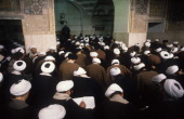 Theology students in a classroom at Feyzieh seminary in Qom Iran 1st February 1986 Qom is a major centre of Shi'ite Islam