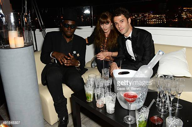 Theophilus London and guests attend the Belvedere Vodka's Cannes party on May 16 2014 in Cannes France