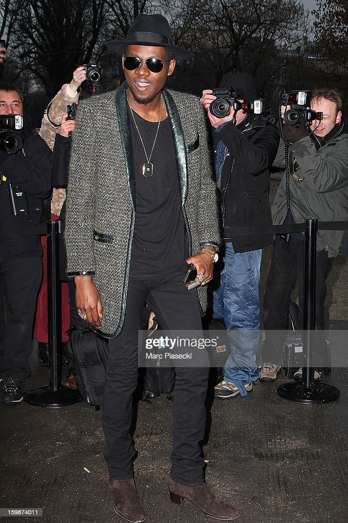 Theophilus London arrives to attend the Chanel Spring/Summer 2013 Haute-Couture show as part of Paris Fashion Week at Grand Palais on January 22, 2013 in Paris, France.