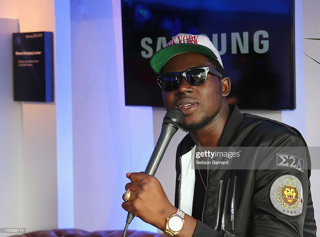 <a gi-track='captionPersonalityLinkClicked' href=/galleries/search?phrase=Theophilus+London&family=editorial&specificpeople=5770992 ng-click='$event.stopPropagation()'>Theophilus London</a> at the Samsung Galaxy Artist Lounge at Lollapalooza on August 2, 2013 in Chicago City.
