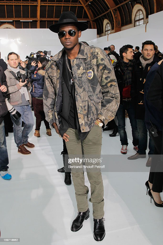 <a gi-track='captionPersonalityLinkClicked' href=/galleries/search?phrase=Theophilus+London&family=editorial&specificpeople=5770992 ng-click='$event.stopPropagation()'>Theophilus London</a> attends the Dior Homme Men Autumn / Winter 2013 show as part of Paris Fashion Week, at Quartier des Celestins, on January 19, 2013 in Paris, France.