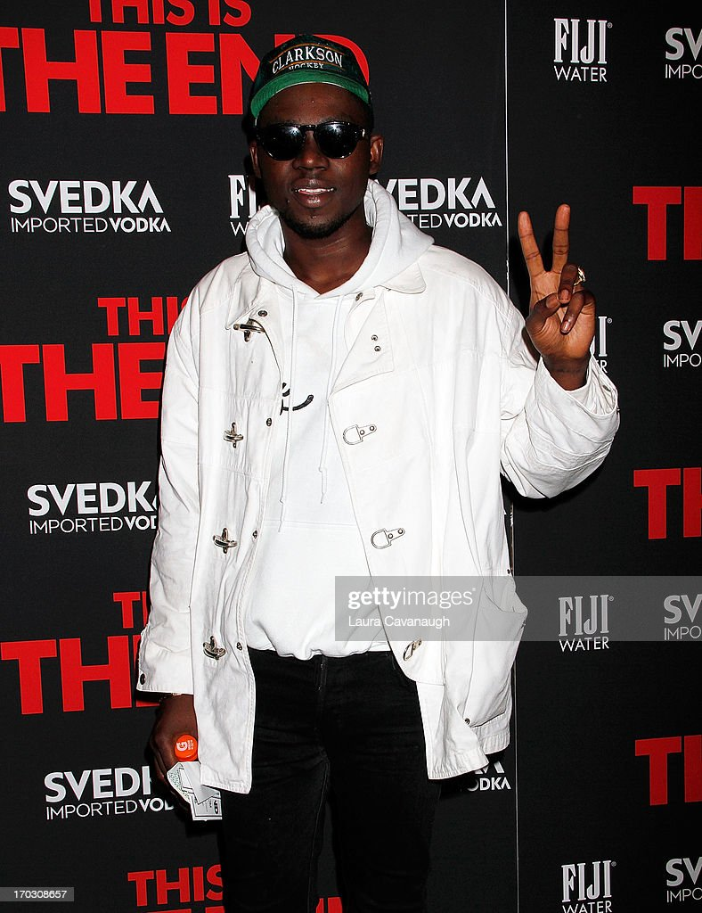 Theophilus London attends 'This Is The End' New York Premiere at Sunshine Landmark on June 10, 2013 in New York City.